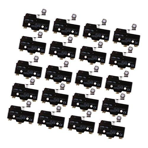 MagiDeal 20 Unids LXW5-11G2 1NO 1NC SPDT Momentary Roller Bisagra Palanca Brazo Micro Interruptor Herramientas
