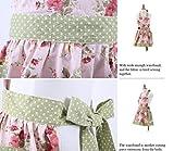 G2PLUS Schön Frau Schürze Schürzen Baumwolle Küchenschürze Modische Apron mit Taschen zum Kochen oder Backen - 4