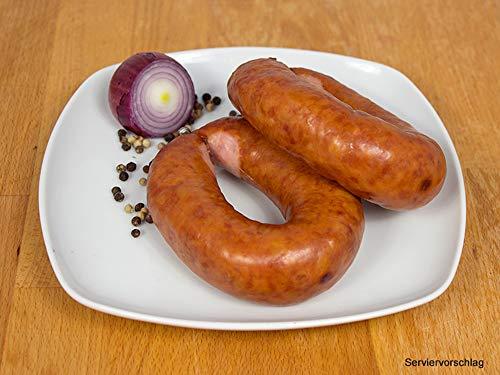 Kohlwurst/Bregenwurst geräuchert im Ring 2 Packungen zu 2x160g - Mettwurst für den deftigen...