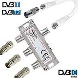 TronicXL 3fach IEC Verteiler Antennenverteiler TV Kabel Kabelfernsehen zb kompatibel
