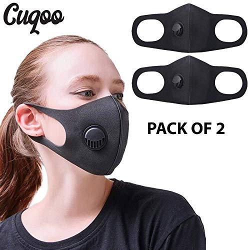 Cuqoo - Máscara Antipolvo con Filtro, máscara Facial para la Boca, Reutilizable, Lavable, Unisex, Filtro anticontaminación