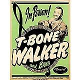 Music Concert Advert T-Bone Walker Band Blues USA Unframed Wall Art Print Poster Home Decor Premium