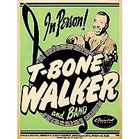 Music Concert Advert T-Bone Walker Band Blues USA Art Print Poster Wall Decor 12X16 Inch 音楽コンサート広告青アメリカ合衆国ポスター壁デコ