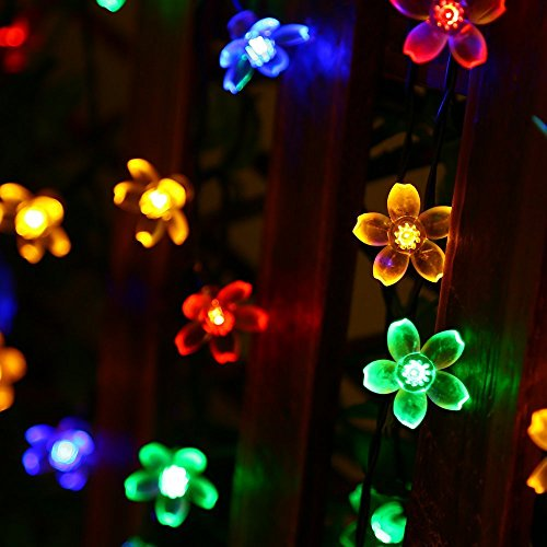 Fairy String Lights Christmas Decorative Lights 33 Feet 100 LEDs, 8 Flash Modes with Tail Plug Connectable Cherry Flower Decoration Novelty Light for Party, Patio, Wedding, Home and Garden 5