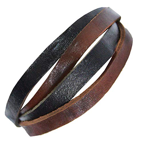 Armband echt Leder Damen Herren Partnerarmband Farbe Motiv 3