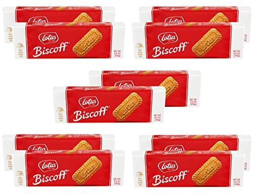 Lotus Biscoff  European Biscuit Cookies  88 Ounce 10 Count  non GMO Project Verified  Vegan