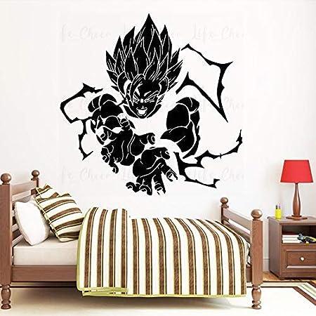 Goku Attack Super Saiyan 1 2 Dragon Ball Z Decal Wall Sticker Decor Art Mural