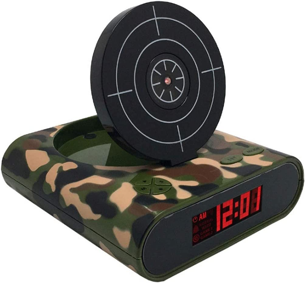 WECDS Shooting Clock with Alarm Quality inspection Creative Personality Fresno Mall B Ideas Can