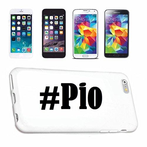 Reifen-Markt Handyhülle kompatibel für iPhone 7 Hashtag #Pio im Social Network Design Hardcase Schutzhülle Handy Cover Smart Cover