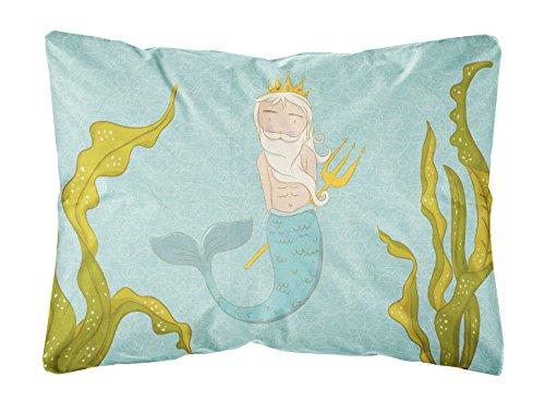 Caroline's Treasures BB8542PW1216 Neptune Merman Canvas Fabric Decorative Pillow, Multicolor