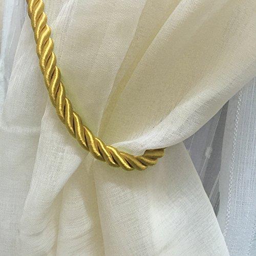Ein Paar dicke Vorhang-Raffhalter, 68,6cm, Fensterdekoration, Vorhangzugbänder gold