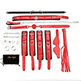 Expandable Spreader Bar with 22pcs Lichi Red Adjustable Straps Indoor Novelty Game for Home Gyms