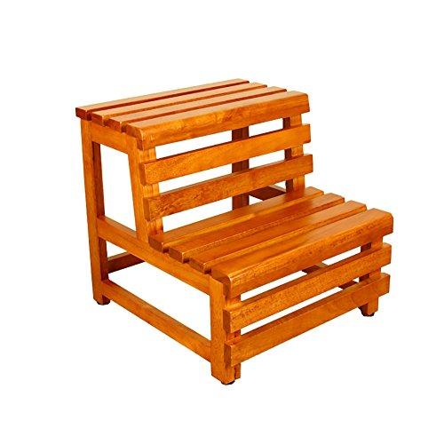 Feng Xu Rubber Hout 2 Stap Kruk Ladder Voor Volwassenen & Kinderen Badkamer Stap Mat Badkuip Dubbele Pedaal Houten Kleine Voet Krukken/Schoenbank Bloemenrek Stap kruk