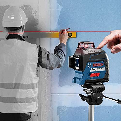 Bosch Professional Linienlaser GLL 3-80 (roter Laser, max. Arbeitsbereich: 30 m, 4x AA Batterie, im Handwerkerkoffer) - 6