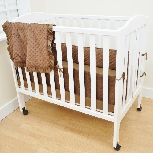 American Baby Company Heavenly Soft Minky Dot Porta Babybett, Chenille, 3-teilig, Schokoladenbraun