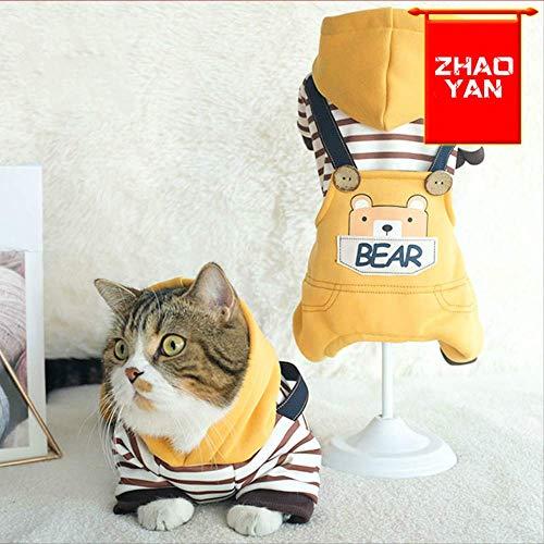 ZHAOYAN kat kleding lente en herfst lente en zomer puppy vier voeten dunne riem huisdier baby melk kat schattig Teddy dan beer