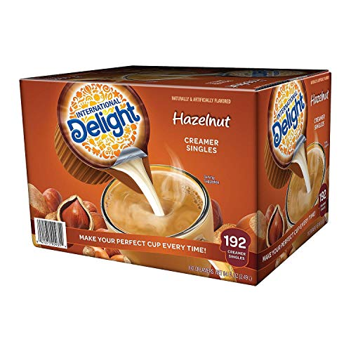 SCS9 International Delight Hazelnut Coffee Creamer- Box of 192 Servings
