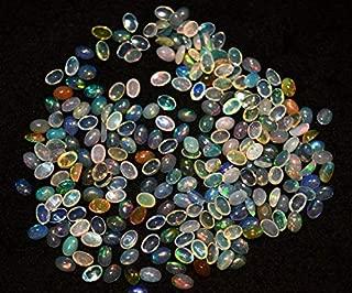 Jewel Beads Natural Beautiful jewellery 6x4mm Calibrated Ethiopian Opal Cabochon, Welo Opal, Oval Shape Cabochon, 50 PiecesCode:- JBB-5707