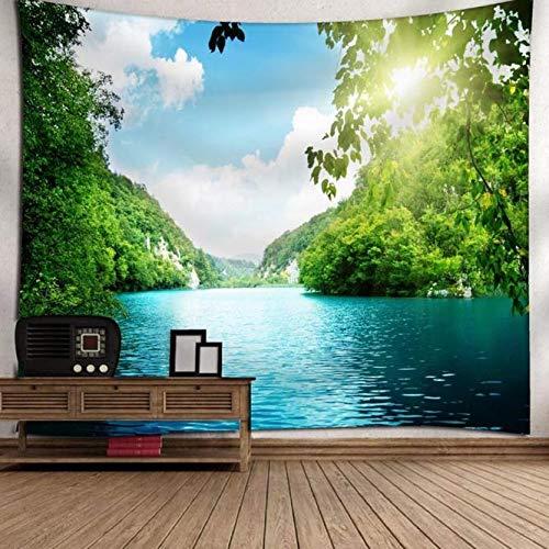 Paysage Vert Tenture murale Tapisserie Nature Arbre Peinture Vêtements Fond Décoratif Tapisserie Rectangulaire Drop Ship 150 * 200 Cm