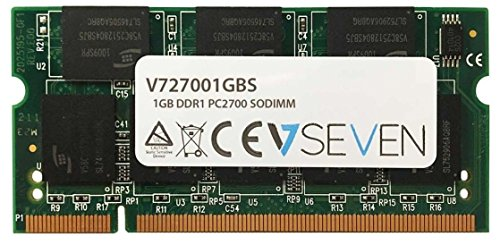 V7 V727001GBS Notebook DDR1 SO-DIMM Arbeitsspeicher 1GB (333MHZ, CL2.5, PC2700, 200pin, 2.5 Volt)