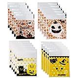 SALPPLEA 400 Pack Halloween Süßigkeiten Tasche Partytüten Papiertüten Candy Tüten Partytüten...