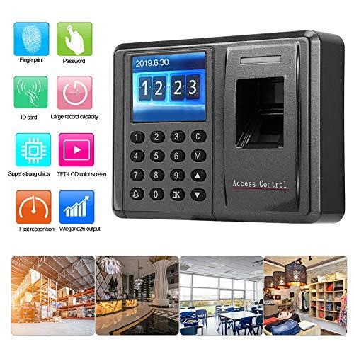 2,4 inch LCD TCP / IP 125Khz vingerafdruk aanwezigheid machine RFID kaartlezer toegangscontrole systeem, 500 vingerafdruk capaciteit voor kleine werknemers