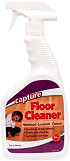 Capture Hardwood Ceramic Laminate Real Wood Floor Cleaner, No Streak, Kid and Pet Safe, Spray and Wipe - 32 Ounce