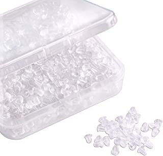 Silicone Clear Earring Backs Bullet Earring Clutch by Yalis, 1000 Pieces