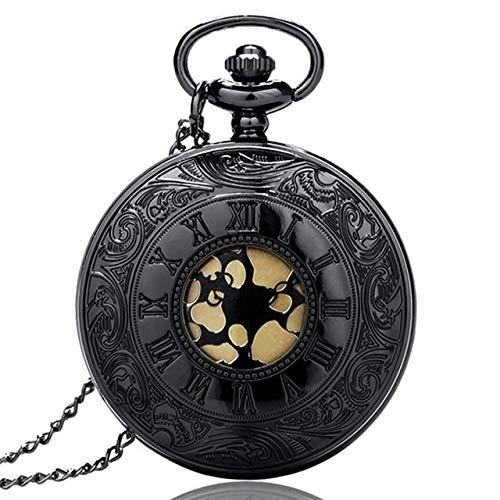 ZHAOXIANGXIANG Reloj De Bolsillo,Reloj De Bolsillo De Cuarzo con Número Romano De Bronce Antiguo Vintage, Collar, Cadena, Relojes para Hombres Y Mujeres, Reloj De Moda, Regalos De Recuerdo