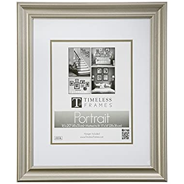 Timeless Frames Lauren Portrait Wall Photo Frame, 11 by 14-Inch, Silver