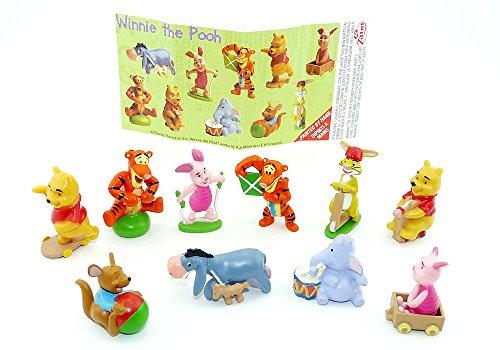 Kinder Überraschung 10 Winnie Pooh Figuren von Zanini, Figurensatz Freizeit mit einem Beipackzettel
