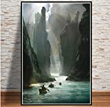 MZCYL Leinwand Malerei Wandkunst Bild Herr Der Ringe Film