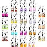18 Pairs Pearl Milk Tea Dangle Earrings Bubble Tea Drop Earrings Funny Boba Earrings Cute Weird Dangle Earrings for Teen Girls Women
