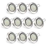Uchrolls 10er Set Ultra Flach LED Einbaustrahler...