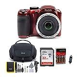 KODAK PIXPRO AZ252 Astro Zoom Digital Camera (Red) Bundle with 32GB Card, Case