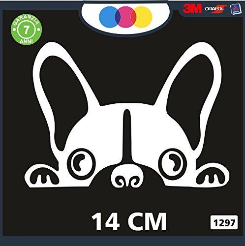 Pegatina para coche con diseño de bulldog francés – Stickers Notebook –...