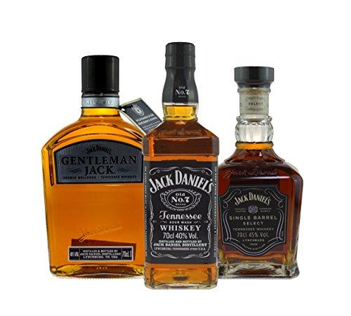 Jack Daniel's Paket (Jack Daniels 0,7l, Gentleman Jack 0,7l, Single Barrel 0,7l) 3x0,7l