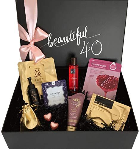 """birthday beauty box """"beautiful 40"""" - Luxus-Geschenkbox zum 40. Geburtstag für Frauen"""