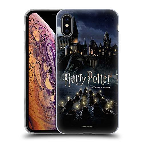 Head Case Designs Licenciado Oficialmente Harry Potter Castillo Sorcerer's Stone II Carcasa de Gel de Silicona Compatible con Apple iPhone XS MAX