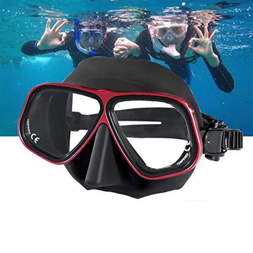 LJXWXN Schwimmbrille Anti-Fog Schwimmbrille für Erwachsene Männer Frauen Jugend mit weicher Silikondichtung, UV-Schutz Poolbrille, Schwimmmaske - Weitsicht Schwimmmaske & Brille Anti-Fog,Rot