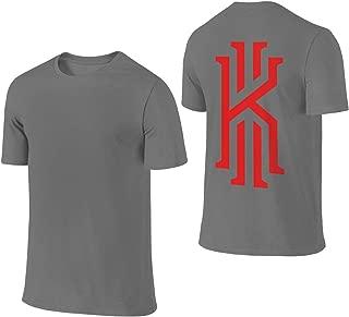 Men's Kyrie-K-Irving Logo Summer T Shirt T-Shirt Summer Short-Sleeve Crew Neck Tee Shirts Cotton Clothes Black