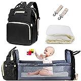 AmWile 3 en 1 sac à dos de sac à langer, sac à langer de voyage imperméable de grande capacité, table à langer...