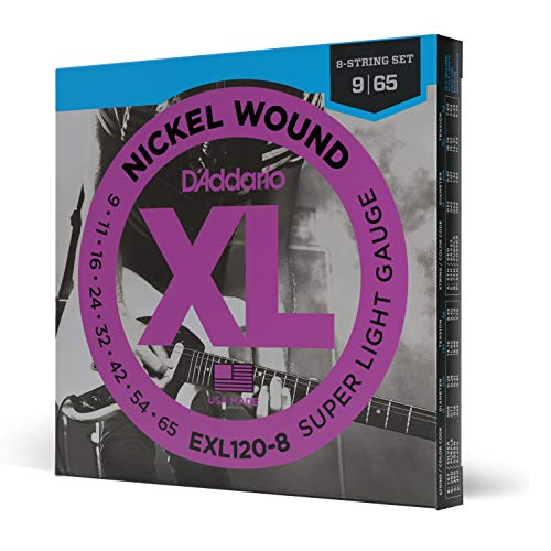 D'Addario EXL120-8 Nickel Wound 8-String Super Light 9-65