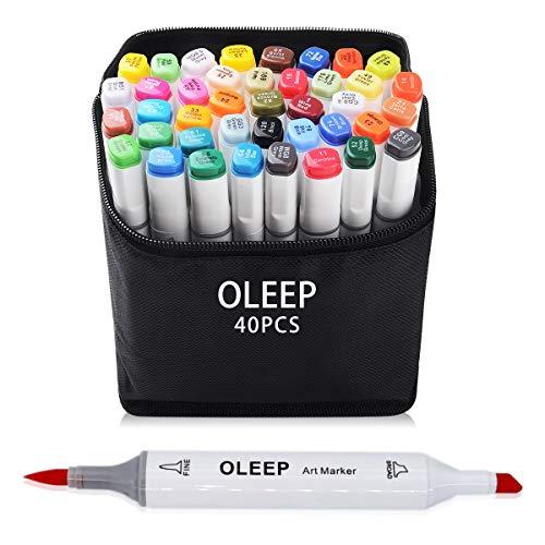 OLEEP 40 Colores Marcadores de pincel,Rotuladores Arte Dibujo de Animación y Diseño Manga