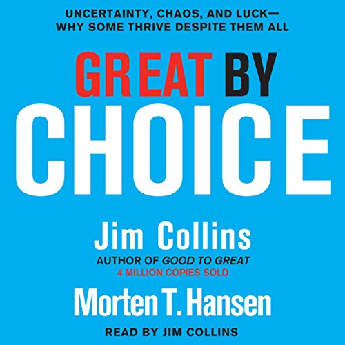 Great by Choice                   Auteur(s):                                                                                                                                 Jim Collins,                                                                                        Morten T. Hansen                               Narrateur(s):                                                                                                                                 Jim Collins                      Durée: 8 h et 45 min     27 évaluations     Au global 4,4