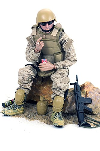 Baellar 12 '' Figura de Acción de Fuerzas Especiales - Camuflaje Digital de Desierto