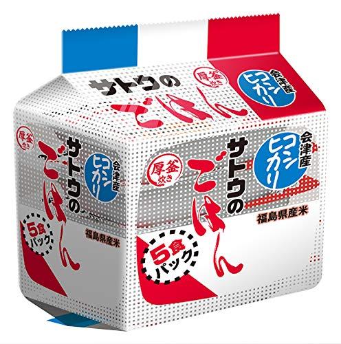 サトウ サトウのごはん 福島県 会津産 コシヒカリ 5食パック ×8袋