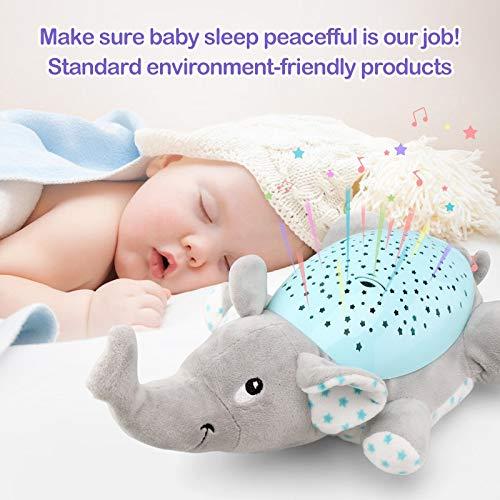 GSDJU Baby Sleep LED Lighting Animal de Peluche Led Night Lamp Peluches con música y Estrellas Luz de proyector Baby Toys para niñas niños