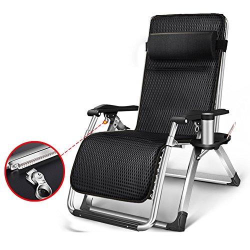 QIDI Chaise Longue Pliable Extérieur Métal 60 * 75 * 80cm (Couleur : Style 1)