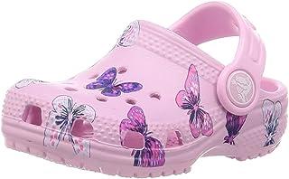 Crocs Unisex Kids' Classic Butterfly Clog Ps Leisure Flip Flops Sportwear for Children, Rosa (Ballerina